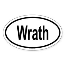 WRATH Oval Decal