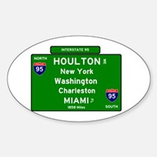 I95 - INTERSTATE 95 - HOULTON MA - MIAMI F Decal