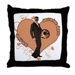 Valentine Wanted (Male) Throw Pillow