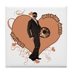 Valentine Wanted (Male) Tile Coaster
