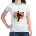 Valentine Wanted (Male) Jr. Ringer T-Shirt