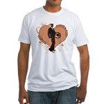 Valentine Wanted (Male) Fitted T-Shirt