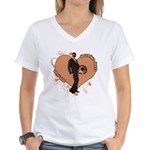Valentine Wanted (Male) Women's V-Neck T-Shirt