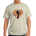 Valentine Wanted (Male) Light T-Shirt
