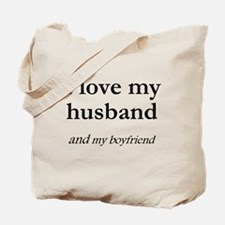 Husband/my boyfriend Tote Bag