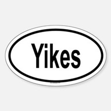YIKES Oval Decal