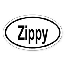 ZIPPY Oval Decal