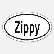 ZIPPY Oval Decal