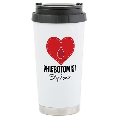 CafePress Phlebotomist Personalized Gift Travel Mug
