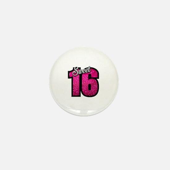 Cute Sweet 16 birthday Mini Button