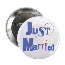"""Just Married 2.25"""" Button (10 pack)"""