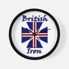 British Iron Wall Clock