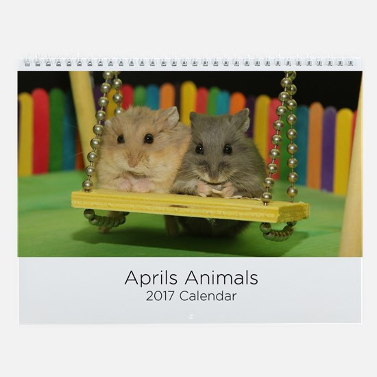 Aprils Animals Wall Calendar