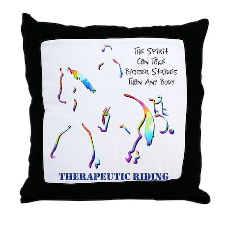 Therapeutic Riding Throw Pillow