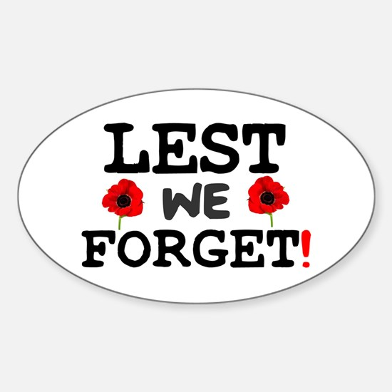 Lest We Forget Bumper Stickers Car Stickers Decals Amp More