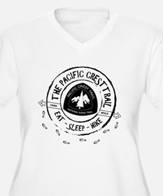 Pacific Crest Trail-Eat Sleep Hike Plus Size T-Shi