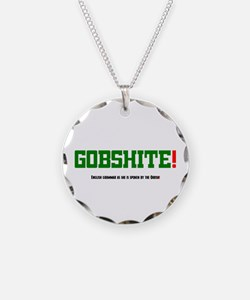 GOBSHITE - ENGlISH GRAMMAR A Necklace Circle Charm