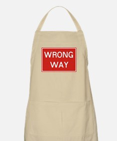 SIGN WRONG WAY - RED Apron