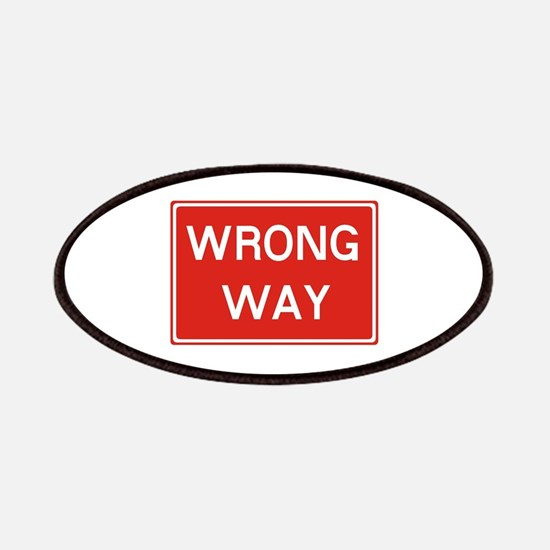 SIGN WRONG WAY - RED Patch