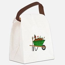 Personalized Green Wheelbarrow Canvas Lunch Bag