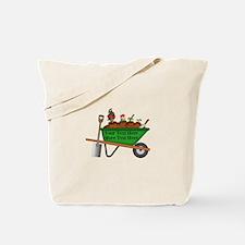 Personalized Green Wheelbarrow Tote Bag