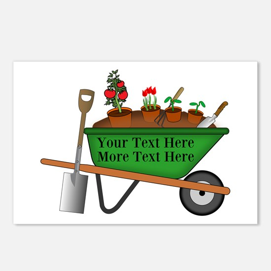 Personalized Green Wheelb Postcards (Package of 8)