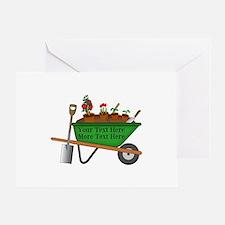 Personalized Green Wheelbarrow Greeting Card