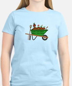 Personalized Green Wheelbarr T-Shirt