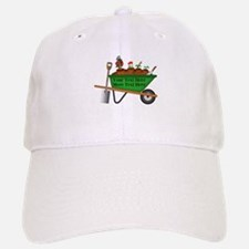 Personalized Green Wheelbarrow Baseball Baseball Cap