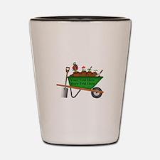 Personalized Green Wheelbarrow Shot Glass