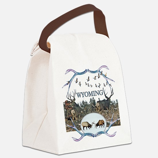 Wyoming wildlife Canvas Lunch Bag