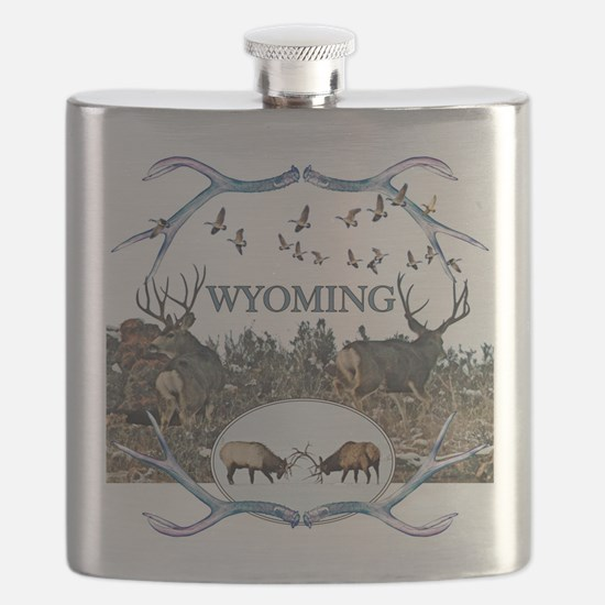 Wyoming wildlife Flask