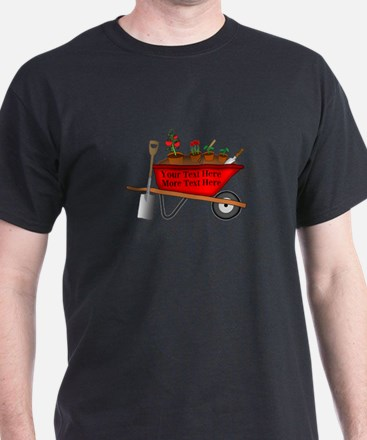 Personalized Red Wheelbarrow T-Shirt