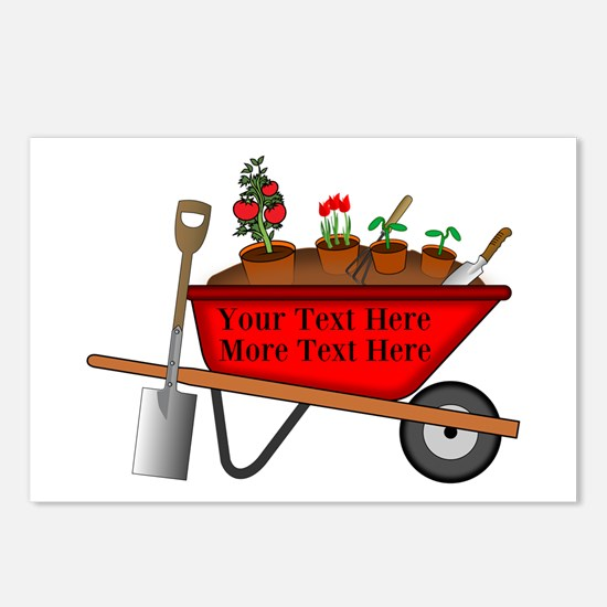 Personalized Red Wheelbar Postcards (Package of 8)