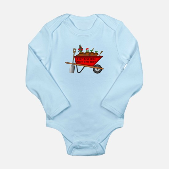 Personalized Red Wheel Long Sleeve Infant Bodysuit