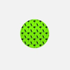 Romantic Couple & Palms Pattern (Green Mini Button