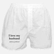 Husband/my girlfriend Boxer Shorts