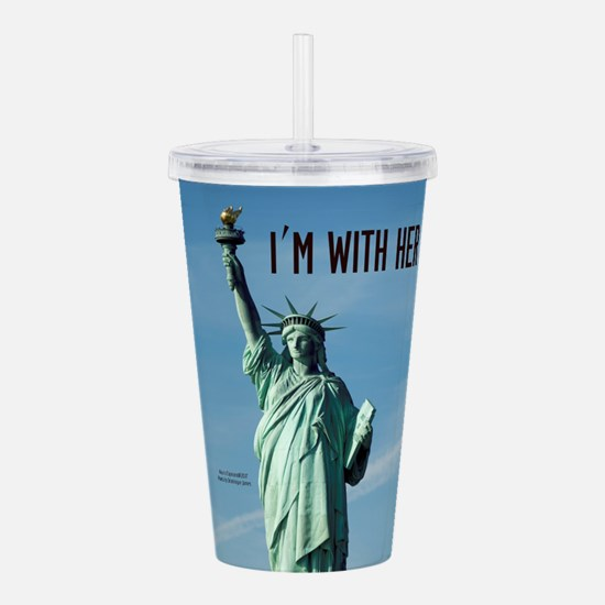 Women's Marches–I'm Wi Acrylic Double-wall Tumbler