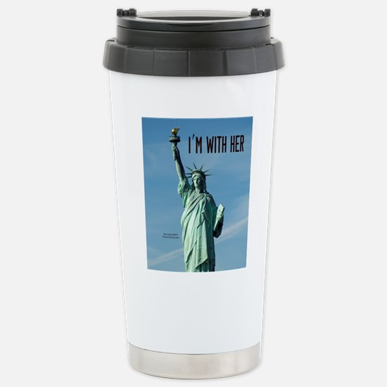 Women's Marches–I'm Wit Stainless Steel Travel Mug