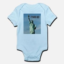 Women's Marches–I'm With Her Lady Infant Bodysuit