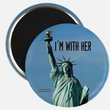 Women's Marches–I'm With Her Lady Liberty Magnet