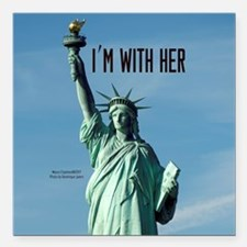 "Women's Marches–I'm With Square Car Magnet 3"" x 3"""