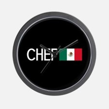 Culinary: Chef (Mexican Flag) Wall Clock