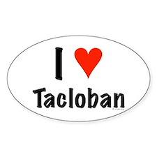 I love Tacloban Oval Decal