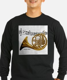 French Horn Music Long Sleeve T-Shirt
