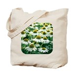 Echinacea White Coneflower Tote Bag
