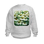 Echinacea White Coneflower Kids Sweatshirt