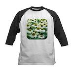 Echinacea White Coneflower Kids Baseball Jersey
