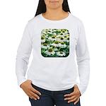 Echinacea White Coneflower Women's Long Sleeve T-S