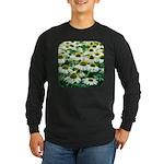 Echinacea White Coneflower Long Sleeve Dark T-Shir